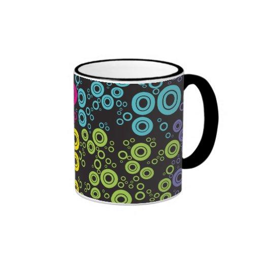 70`s style circle pattern vol1 coffee mugs