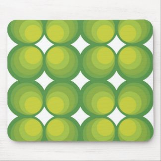 70 ' s years green circle rows… mouse pad