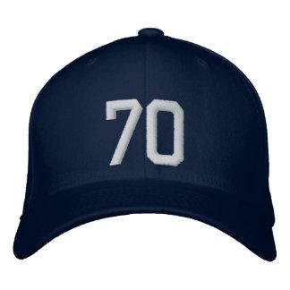 70 setenta gorra bordada