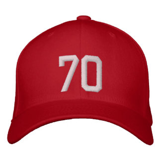 70 Seventy Embroidered Baseball Hat