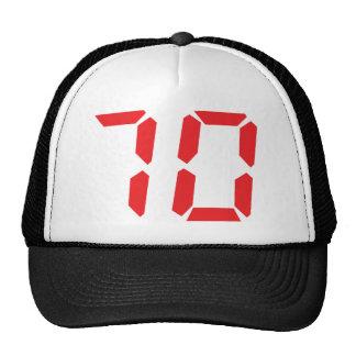 70 seventy red alarm clock digital number trucker hat