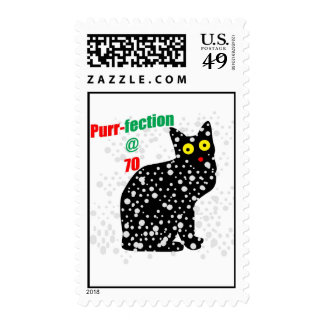 70 Snow Cat Purr-fection Postage Stamps