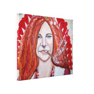70-tal Janis kanvastavla Lienzo Envuelto Para Galerias