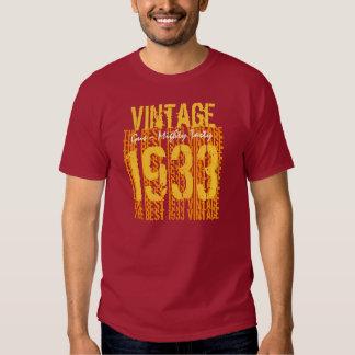 70- Vintage 1933 del regalo de cumpleaños 79 el Playera