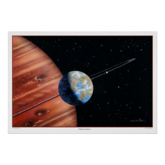 70 Virginis b and Moons Print