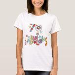 70 y 70.o cumpleaños feliz fabuloso playera