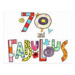 70 y cumpleaños fabuloso 1943 del diseño postales