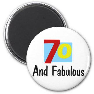 70 y fabuloso imán de frigorifico