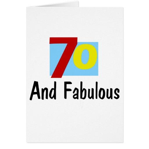 70 y fabuloso tarjeta de felicitación