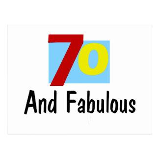 70 y fabuloso postal