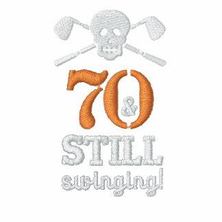 70 y todavía balanceo - camisa del cumpleaños del camiseta polo
