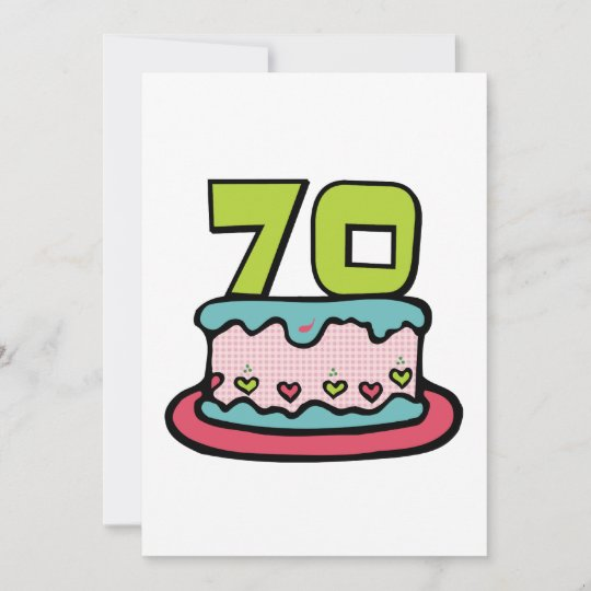 70 Year Old Birthday Cake Card