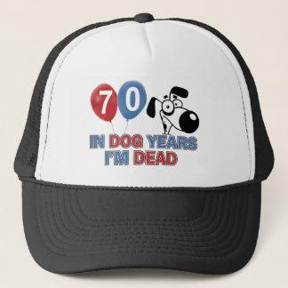 70 year old Dog years designs Trucker Hat
