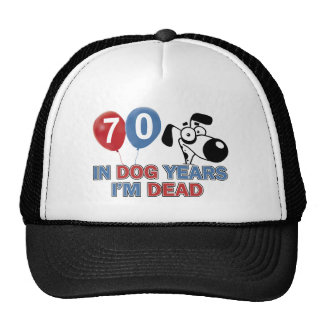70 year old Dog years designs Trucker Hat