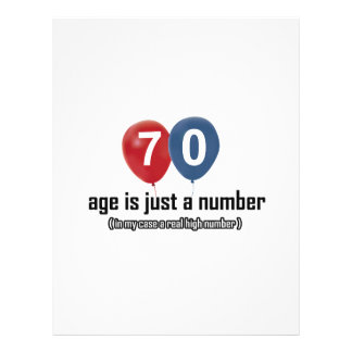 70 year old nothing but a number designs letterhead