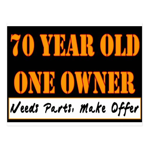 70 Year Old, One Owner - Needs Parts, Make Offer Post Cards