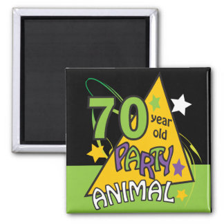 70 Year Old Party Animal Magnet Refrigerator Magnet
