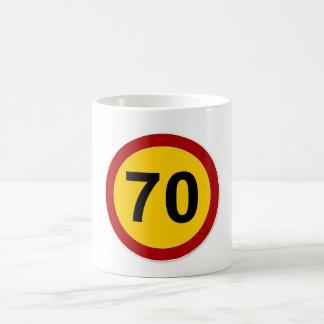 70 Year Old Traffic Sign Classic White Mug