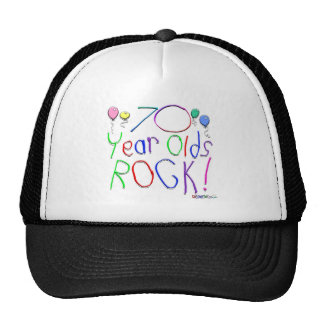 70 Year Olds Rock! Hat