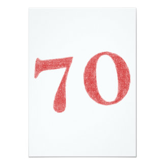 70 years anniversary card