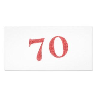 70 years anniversary card
