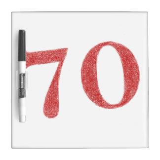 70 years anniversary dry erase board