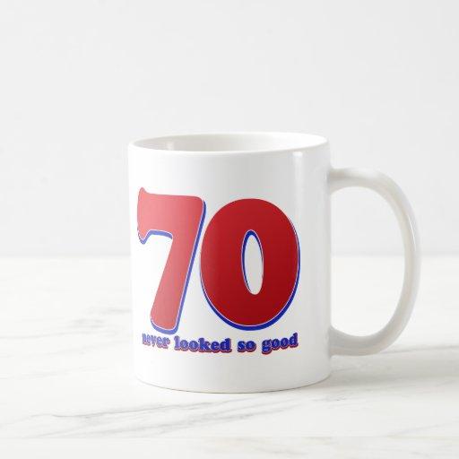 70 years classic white coffee mug