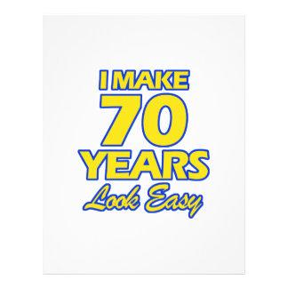 70 YEARS OLD BIRTHDAY DESIGNS LETTERHEAD