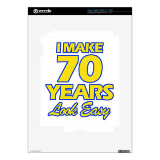 70 YEARS OLD BIRTHDAY DESIGNS SKIN FOR THE iPad 2