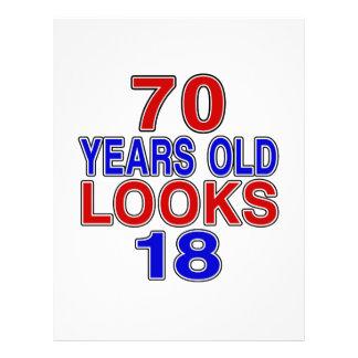 70 Years Old Looks 18 Letterhead