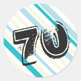 70 yr Bday - 70th Birthday Party Classic Round Sticker