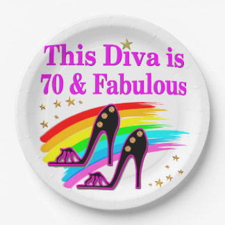 70 YR OLD SHOE QUEEN PAPER PLATE