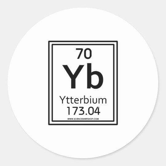 70 Ytterbium Classic Round Sticker