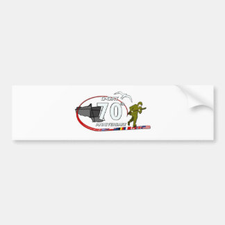 70ème anniversary of the Normandy landing of Norma Bumper Sticker