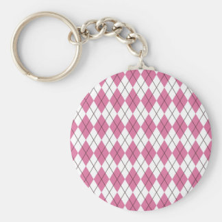 70er Muster Pinky Basic Round Button Keychain