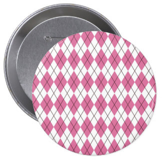 70er Muster Pinky 4 Inch Round Button