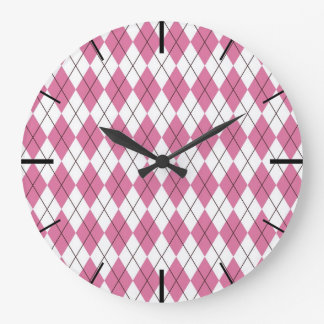 70er Muster Pinky Large Clock