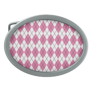70er Muster Pinky Oval Belt Buckle