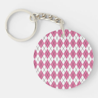 70er Muster Pinky Single-Sided Round Acrylic Keychain