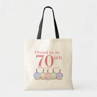 70ish Birthday Canvas Bags