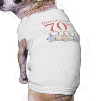70ish Birthday Pet Tee Shirt