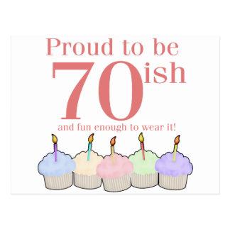 70ish Birthday Postcard