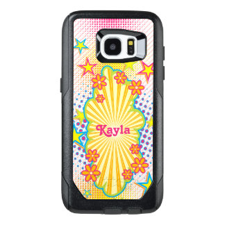 70s 60s Theme Groovy Flower Power OtterBox Samsung Galaxy S7 Edge Case