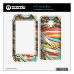 70s abstract stripes skins for HTC droid eris