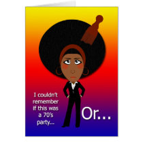 70's Birthday Party Card
