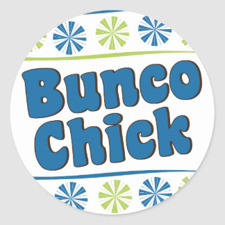 70's Bunco Chick Classic Round Sticker