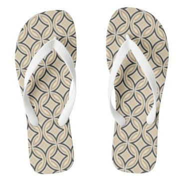 Beach Themed 70's Chic Retro Style Flip Flops
