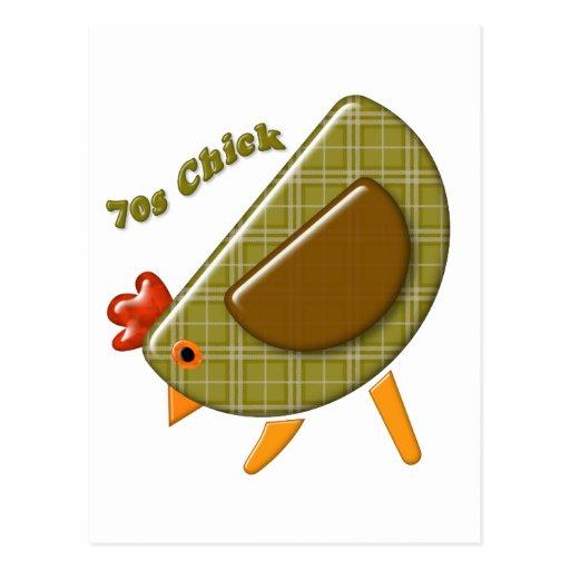 70s Chick Postcard