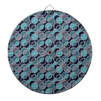 70s Circles aqua silver Dart Boards