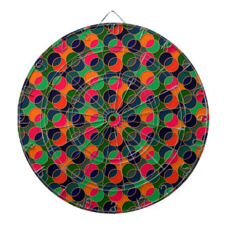 70s Circles red green Dart Boards
